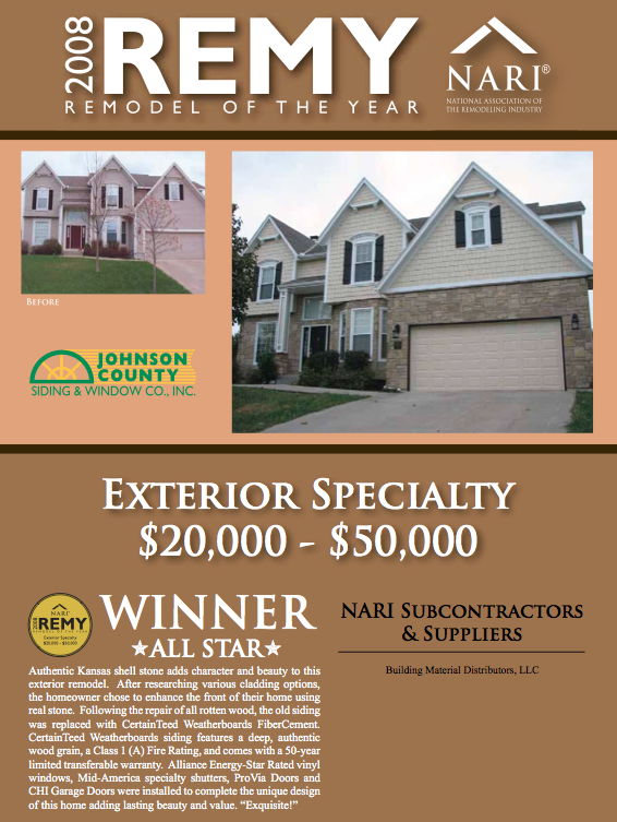 2008 Remy Remodeler of the Year