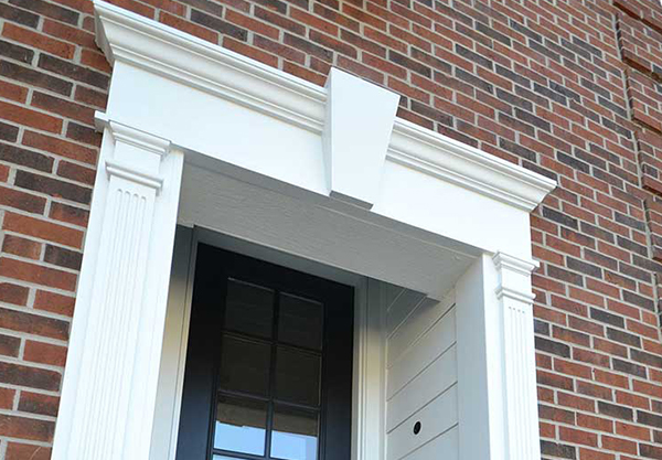 Fypon Colonial Entry Door Trim In Overland Park, KS Cropped