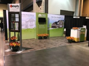 Remodeling exhibit booth at Overland Park home show